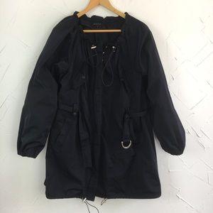 Theory Navy Blue Belted Rain Jacket / Coat